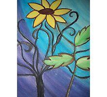 Tall Standing Sunflower Photographic Print