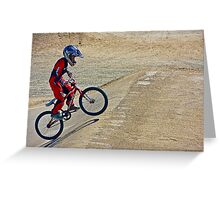 BMX Young Rider  Greeting Card