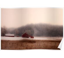 Farm In Winter Poster