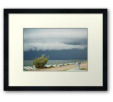 A Good Storm Brewing Framed Print