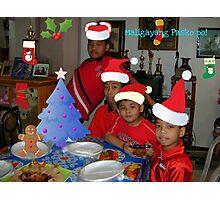 Red quartet Christmas wish.. Photographic Print
