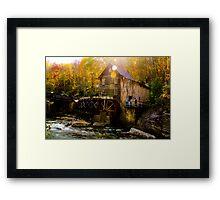 Babcock state park - Glade Creek Grist Mill Framed Print