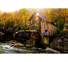 Babcock state park - Glade Creek Grist Mill Photographic Print