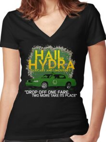 Need a Lift? Hail Hydra! Women's Fitted V-Neck T-Shirt