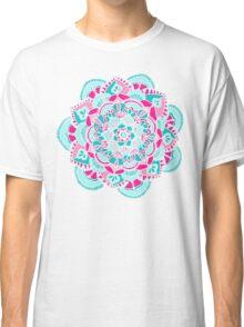Hot Pink & Teal Mandala Flower Classic T-Shirt
