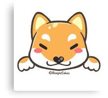 Cute Shiba Inu Puppy Canvas Print