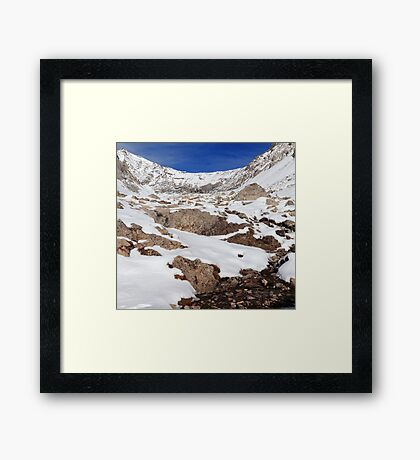 Elevated environment Framed Print