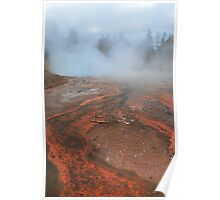 Steamy Yellowstone Poster
