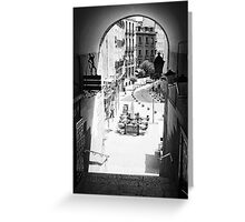 Archway - Exit from the Plaza Mayor, Madrid. 2004 Greeting Card
