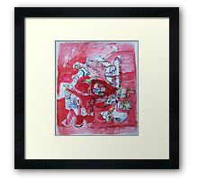 much talking and fun Framed Print