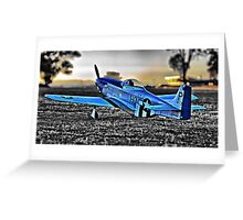 Scale P-51 Mustang Greeting Card