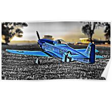 Scale P-51 Mustang Poster