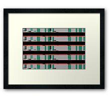 glitch art  Framed Print