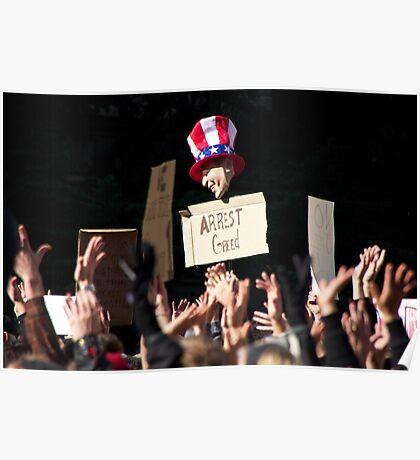 Arrest Greed Poster