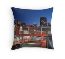 Montreal Science Center with Skyline Throw Pillow