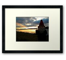Evening Gnome Framed Print