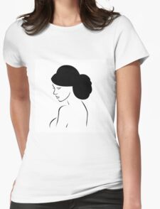 Bride with elegant hairstyle  Womens Fitted T-Shirt