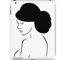 Bride with elegant hairstyle  iPad Case/Skin