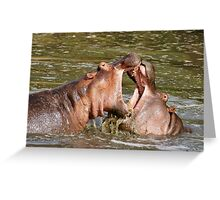 """hippo foreplay"" Greeting Card"