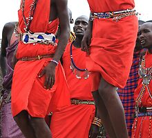 Maasai Tribal Jumping Dance by Jill Fisher