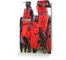 Maasai Tribal Jumping Dance Greeting Card