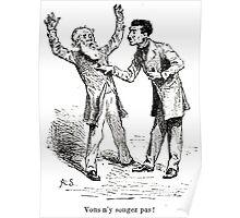 Achille Sirouy Mark Twain Les Aventures de Huck Huckleberry Finn illustration p184 Poster
