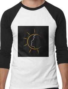 Face of a woman in the sun Men's Baseball ¾ T-Shirt