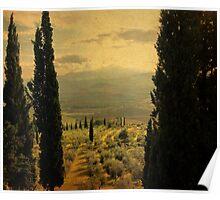 Between-Pienza, Italy Poster