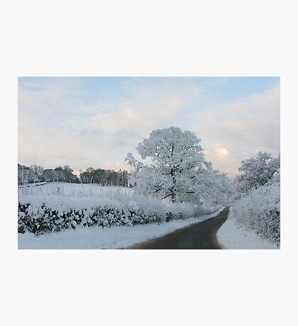 Road in winter/Ffordd yn y Gaeaf Photographic Print