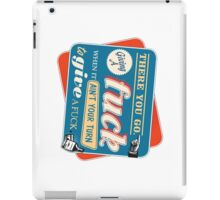 """""""Ain't Your Turn to Give a Fuck"""" - The Wire (Colorful Dark) iPad Case/Skin"""