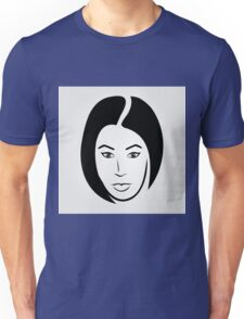 Face of a woman in short hair Unisex T-Shirt