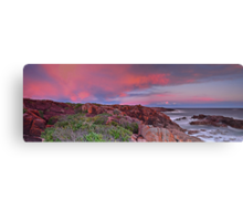 Boat Harbour Sunset Panorama Canvas Print