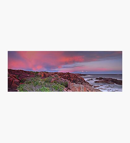 Boat Harbour Sunset Panorama Photographic Print