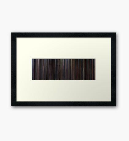 Moviebarcode: Chocolat (2000) Framed Print