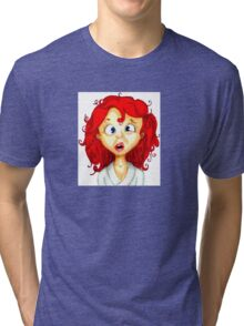 my resting confused face Tri-blend T-Shirt