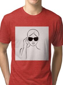 Style with shades Tri-blend T-Shirt
