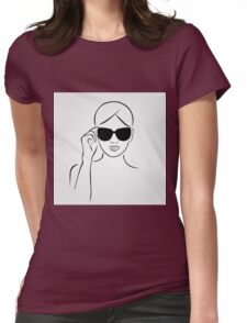 Style with shades Womens Fitted T-Shirt