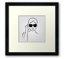Style with shades Framed Print