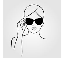Style with shades Photographic Print