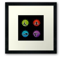 Yoga pilates  Framed Print