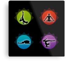 Yoga pilates  Metal Print