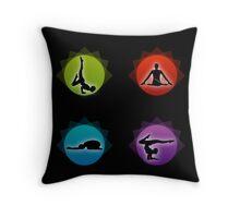 Yoga pilates  Throw Pillow