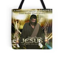 Jesus, God bless your baby! Tote Bag