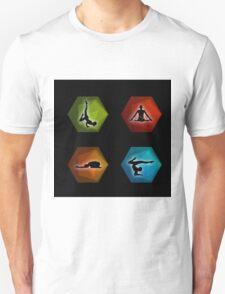 Yoga pilates set on geometric shapes  T-Shirt