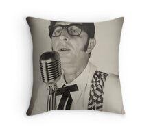 Deak Rivers as Buddy Holly Throw Pillow