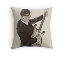 Deak Rivers as Buddy Holly Throw Pillow
