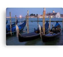 Gondolas Venice Canvas Print