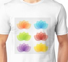 Graceful lotus with 5 petals  Unisex T-Shirt