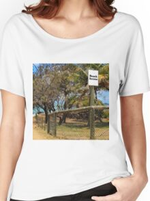 Beach Access Sign and Path Women's Relaxed Fit T-Shirt