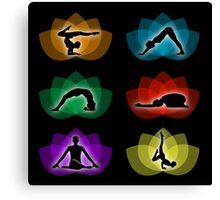 yoga and meditation Canvas Print